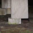 112 柱と基礎石とのズレ