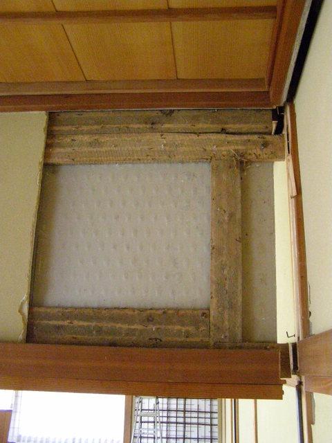 608 内壁損壊崩落 内壁・天井隙間